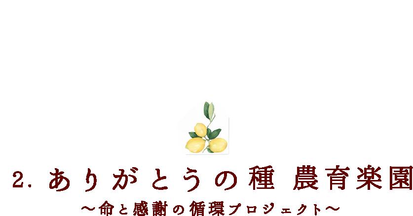 2.ありがとうの種 農育楽園 ~命と感謝の循環プロジェクト~育楽園