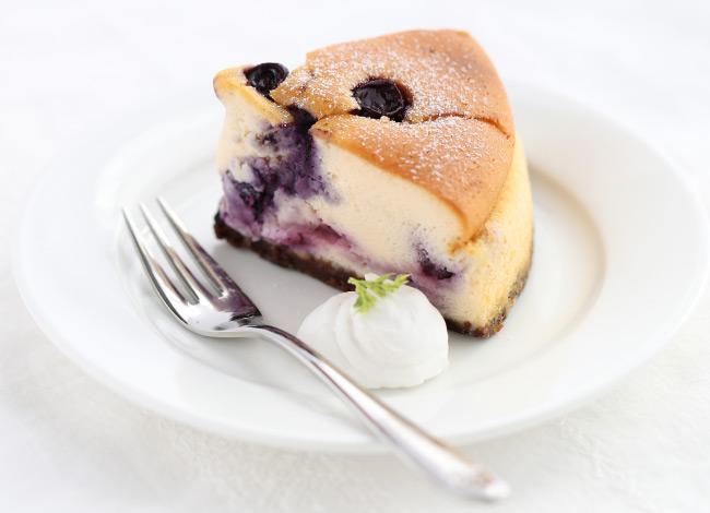 高砂産ブルーベリーの チーズケーキ